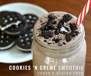 Vegan and Gluten Free Plant Fusion Cookies 'N Creme Smoothie {dairy free, soy free}