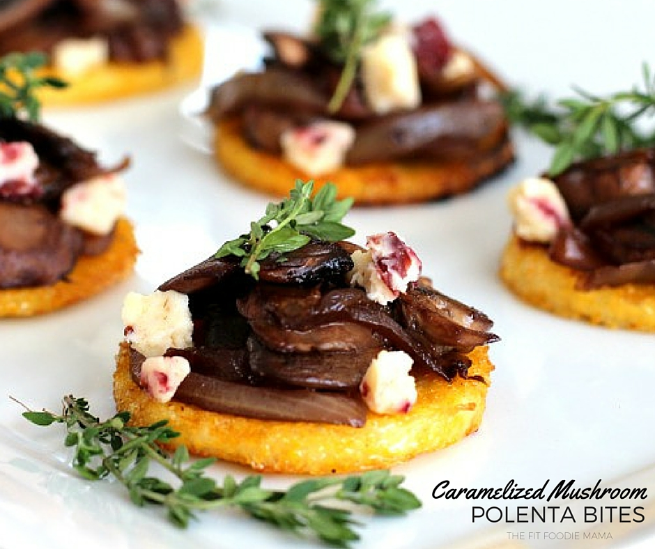 Meatless Monday: Caramelized Mushroom Polenta Bites