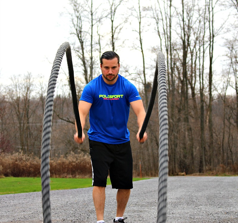Polo Sport Men's Performance Wear- Functional Training with Battle Ropes