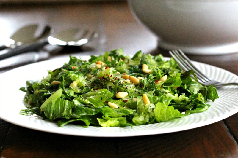 Mediterranean Shredded Romaine & Cucumber Salad