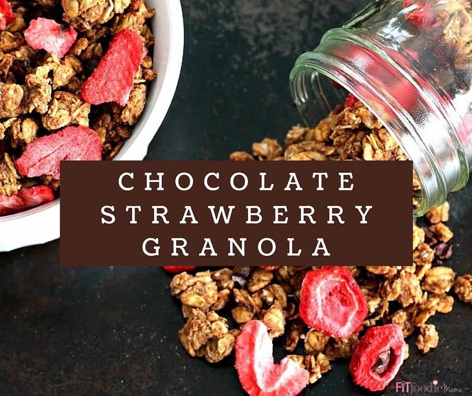 Healthy Chocolate Strawberry Granola {Oil Free, Low Sugar}