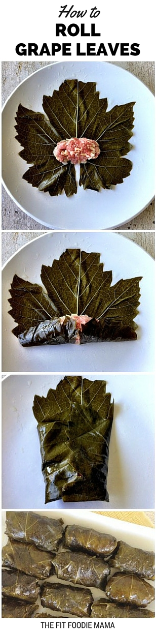 How To Roll Grape Leaves Tutorial via TheFitFoodieMama.com