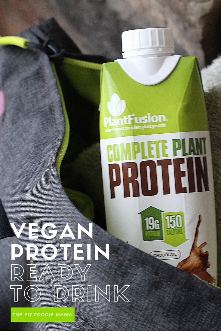 PlantFusion Ready to Drink Vegan Protein on the Go! {Soy free, gluten free, dairy free, low sugar}
