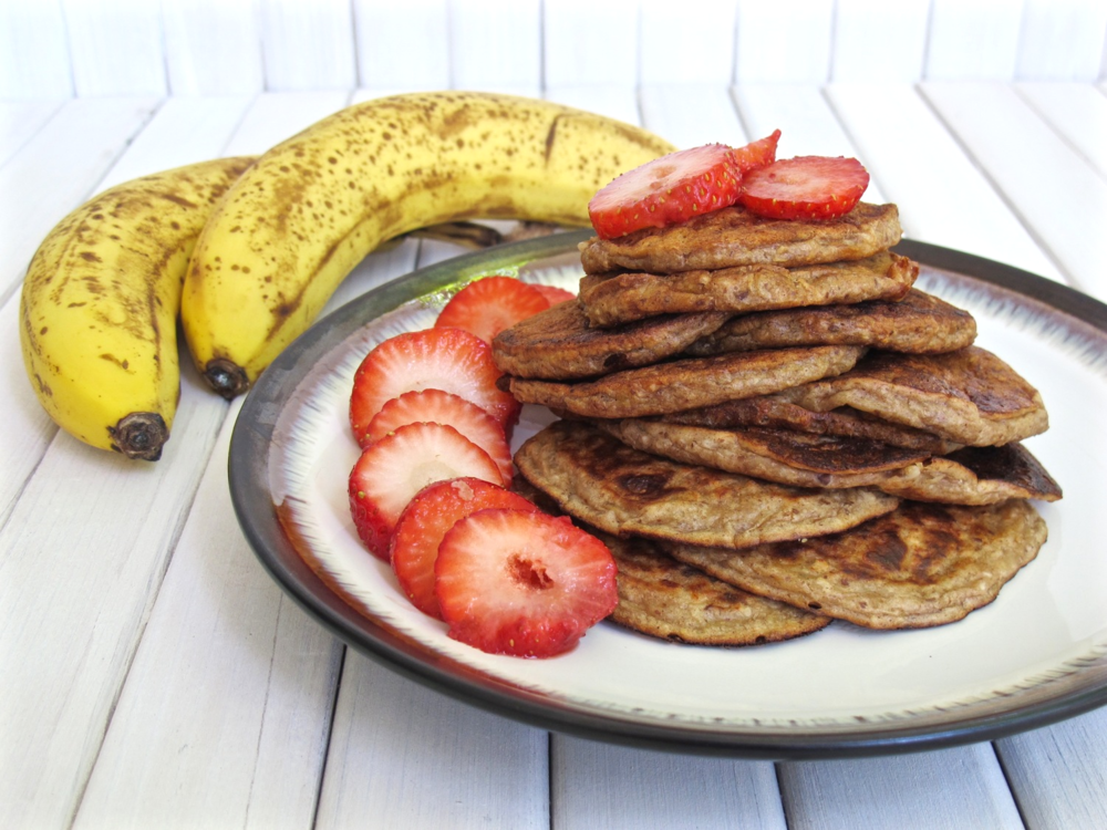 Banana+Peanut+Butter+Pancakes+gluten+free+and+vegan