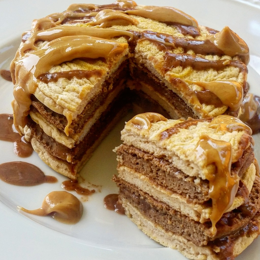 Healthy-Reeses-Pieces-Peanut-Butter-Cup-Protein-Pancakes-1-1024x1024