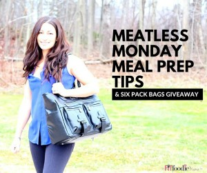 Easy Meatless Meal Prep On The Go with Six Pack Fitness Meal Management Bags {gluten free, vegan}