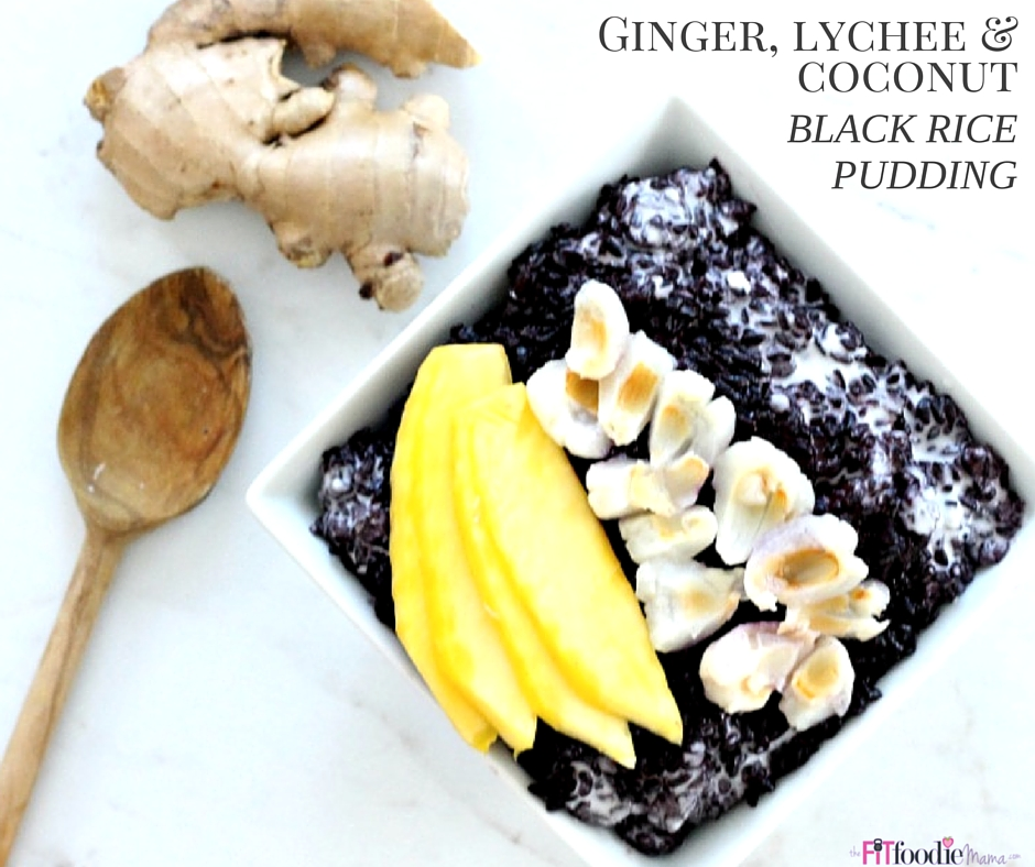 Low Histamine Ginger, Lychee & Coconut Black Rice Pudding
