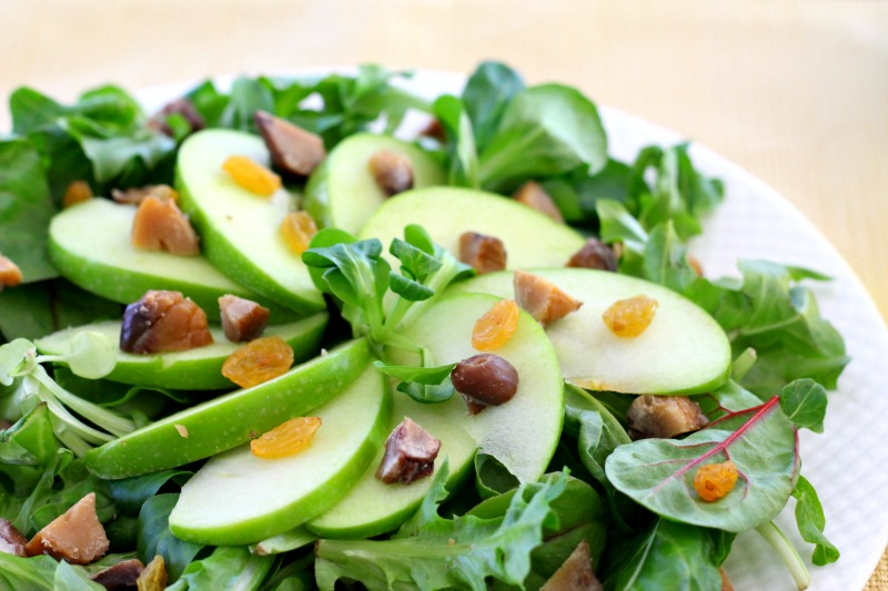 Chestnut Apple and Mâche Salad