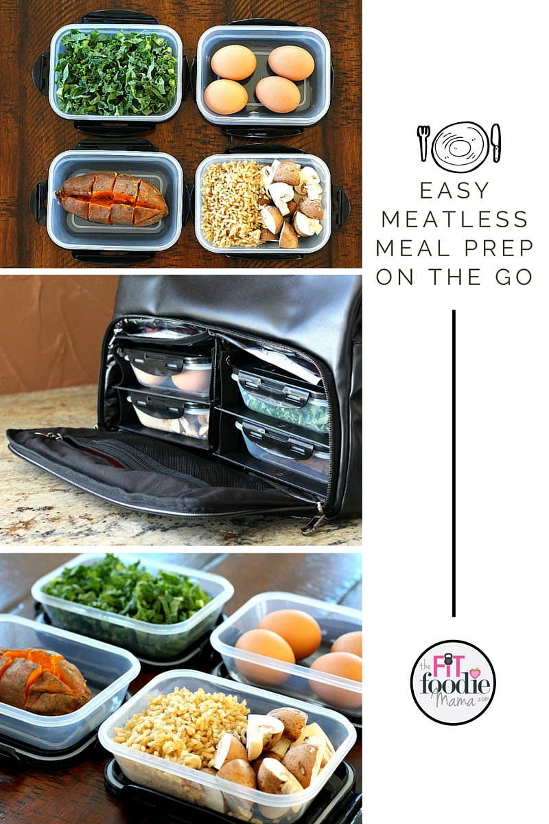 Easy Meatless Meal Prep On The Go with Six Pack Fitness Meal Management Bags {gluten free, vegetarian}