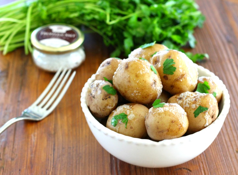 Central New York Truffle Salt Potatoes {dairy free, vegan, gluten free}