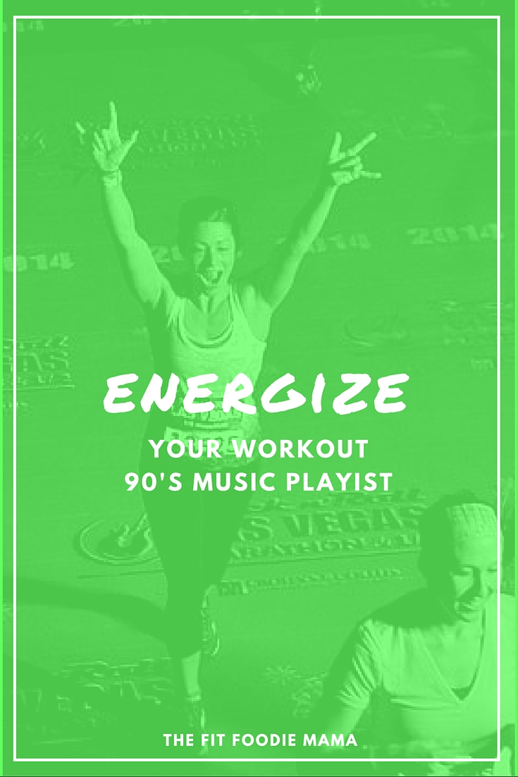 Energizing 90's Music Workout/ Running Playlist TheFitFoodieMama.com