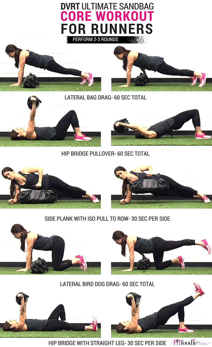 Core Workout for Runners using DVRT @UltimateSandbag {Functional Fitness, Functional Training, Sandbag, Fitness, Strength Training} TheFitFoodieMama.com