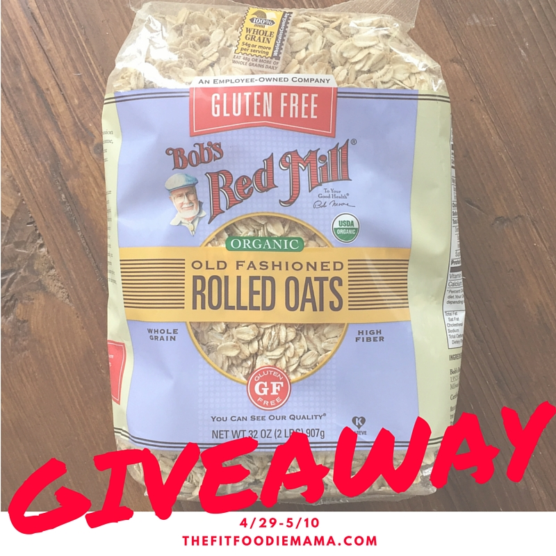 Bob's Red Mill Organic, Gluten Free Oats Giveaway!
