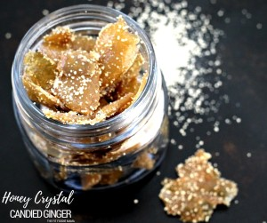 Honey-Candied Ginger made with Nektar Naturals Honey Crystals {Paleo, Gluten Fee}