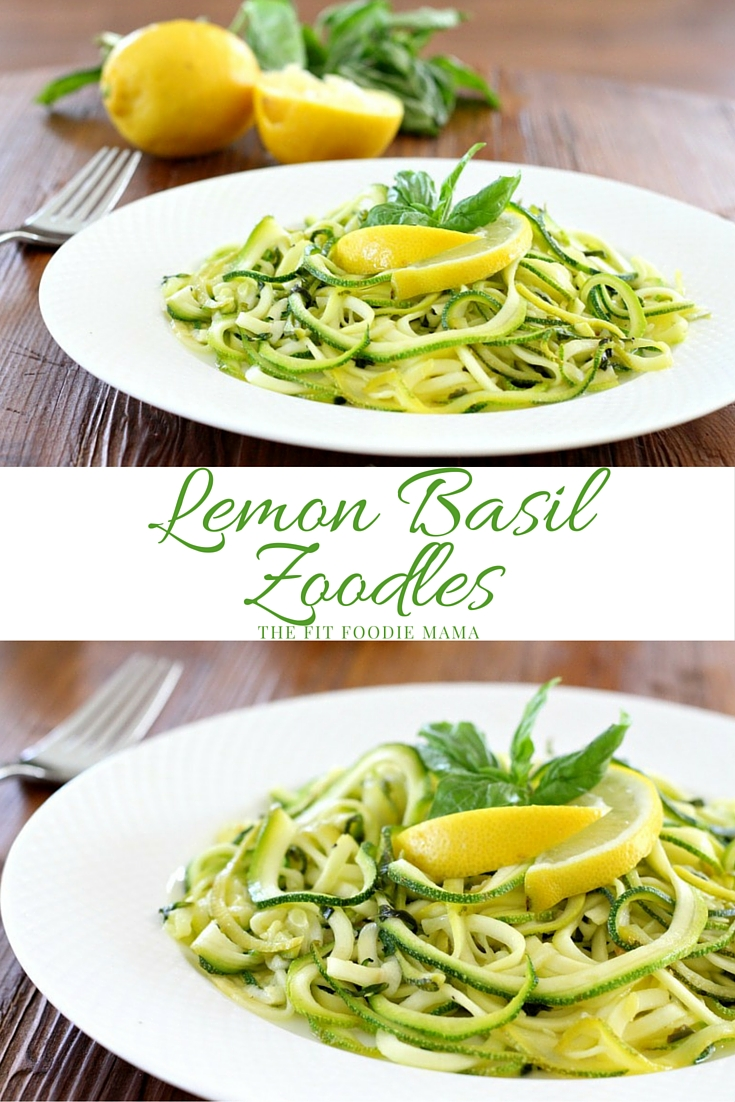 Need a Meatless Monday meal? Try this easy Lemon Basil Zoodle recipe! It's so healthy and delicious you'll want to make it every day of the week! {gluten free, vegan, meatless, dairy free, allergy friendly, soy free} TheFitFoodieMama.com