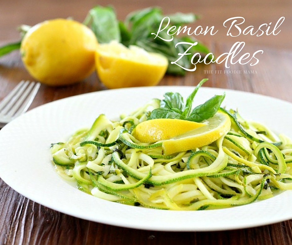 Easy Lemon Basil Zoodles {Gluten Free, Vegan}