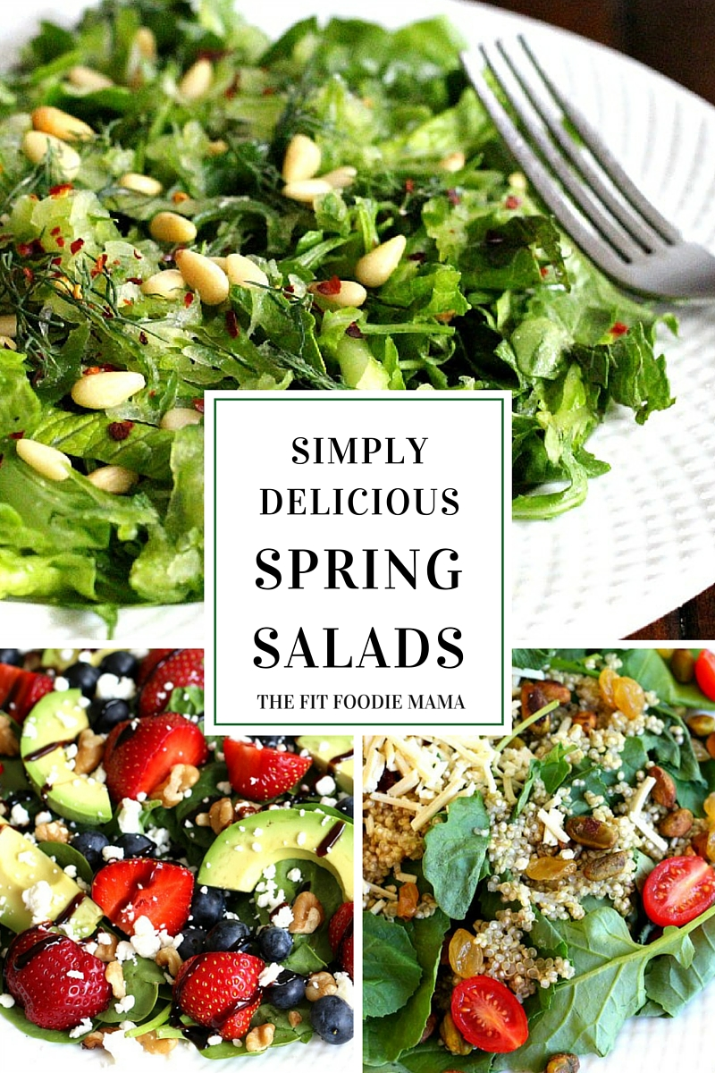 Simply delicious vegan and gluten free spring salad recipes TheFitFoodieMama.com