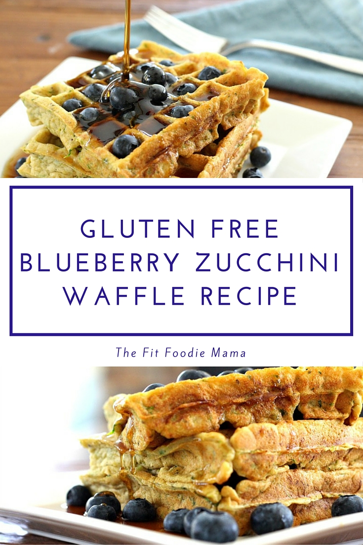 Gluten Free Blueberry Zucchini Waffles. Perfect for a summer Sunday ...