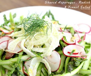 Shaved Asparagus, Radish & fennel Salad FB