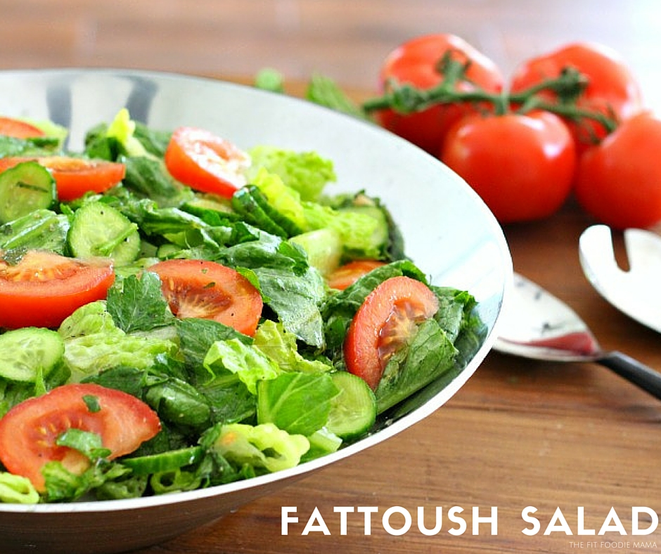 Lebanese Fattoush Salad {Gluten Free, Vegan} - The Fit Foodie Mama