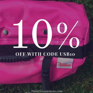 Save 10% off an Ultimate Sandbag using code USB10 - TheFitFoodieMama.com