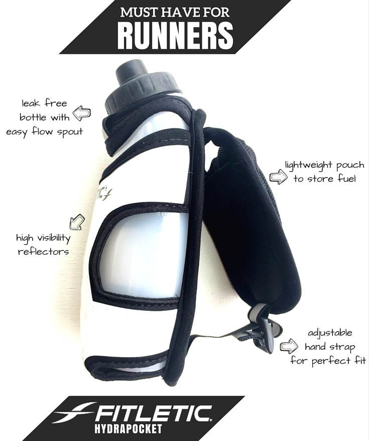 Fitletic Hydrapocket- Perfect for keeping hydrated and fueling on the run! TheFitFoodieMama.com