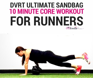10 Minute Ultimate Sandbag Core Workout for Runners! This workout incorporate Dynamic Variable Resistance Training core moves with the Ultimate Sandbag for a quick and effective way to strengthen your core so you can run stronger and faster! Find workout details on TheFitFoodieMama.com