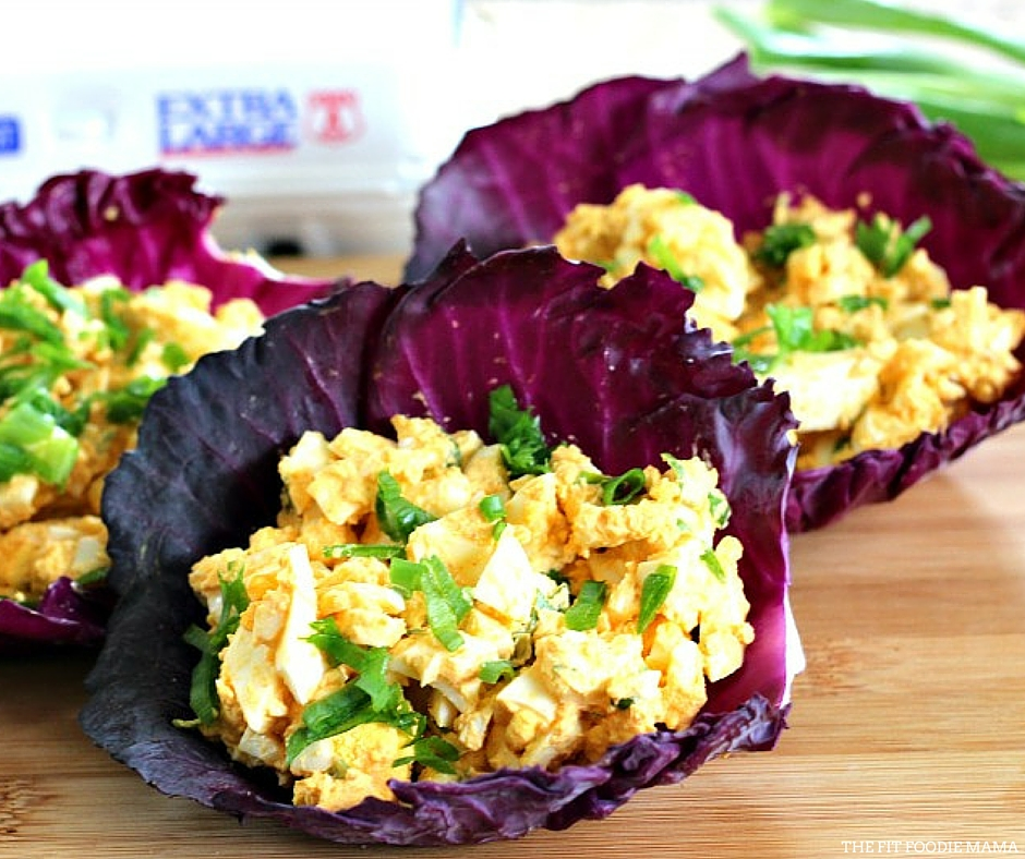 Sriracha Egg Salad Cabbage Wraps {Mayo-Free}