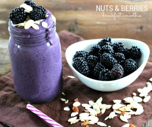 Start your morning with this Nuts & Berries Breakfast Smoothie. It's dairy free, vegan, gluten free and protein packed making it the perfect way to fuel your day!