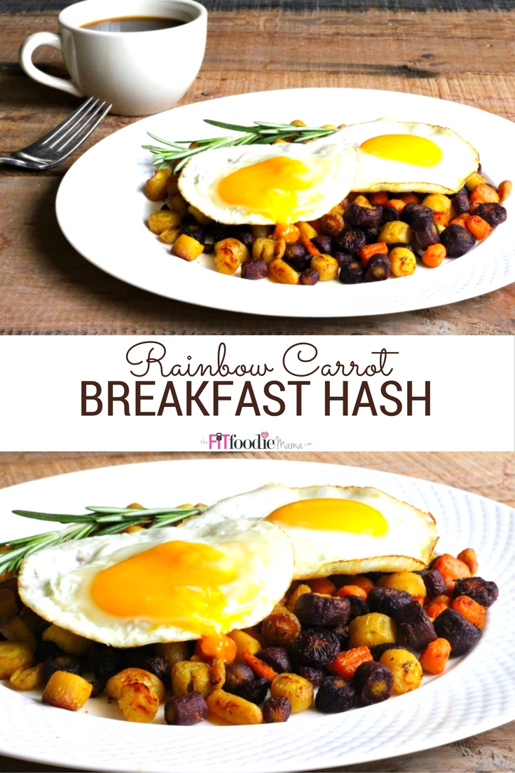 This Rainbow Carrot Breakfast Hash is the perfect low car/low FODMAP/low histamine alternative to potatoes!