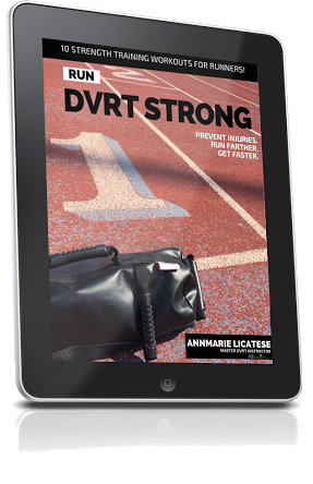 Get stronger so you can get stronger with this DVRT Ulltimate Sandbag strength training program for runners!