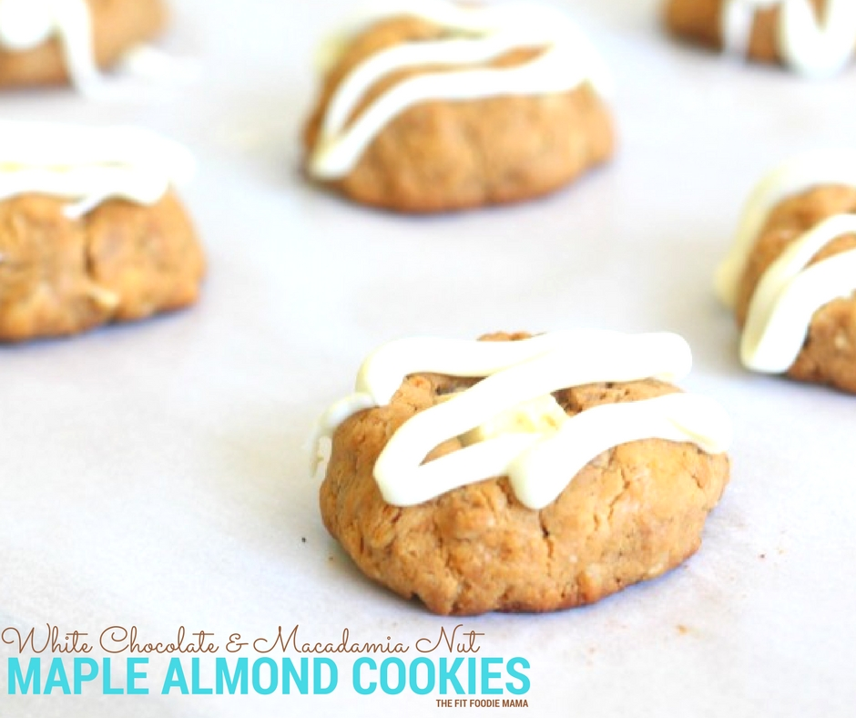 White Chocolate & Macadamia Nut Maple Almond Butter Cookies - The Fit ...
