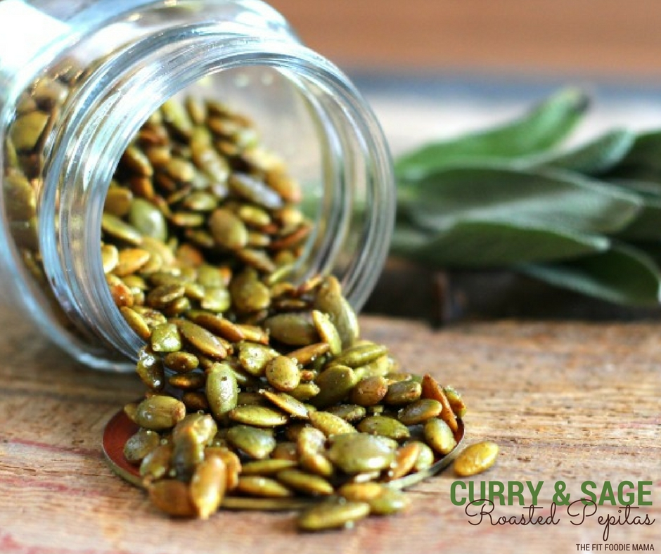 Easy Curry and Sage Roasted Peptia Seeds