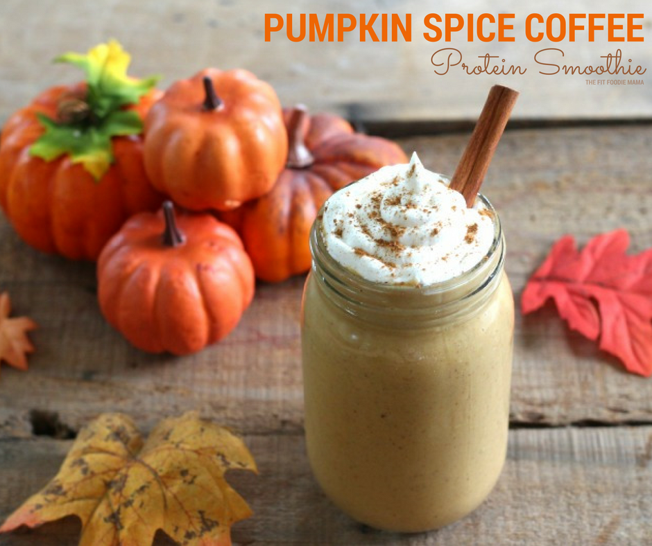 Pumpkin Spice Coffee Protein Smoothie {Vegan}