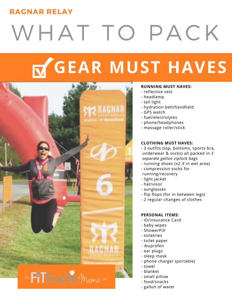 Ragnar Relay Gear MUST HAVES Packing List! Plus tips from Ragnar Relay Ambassadors!