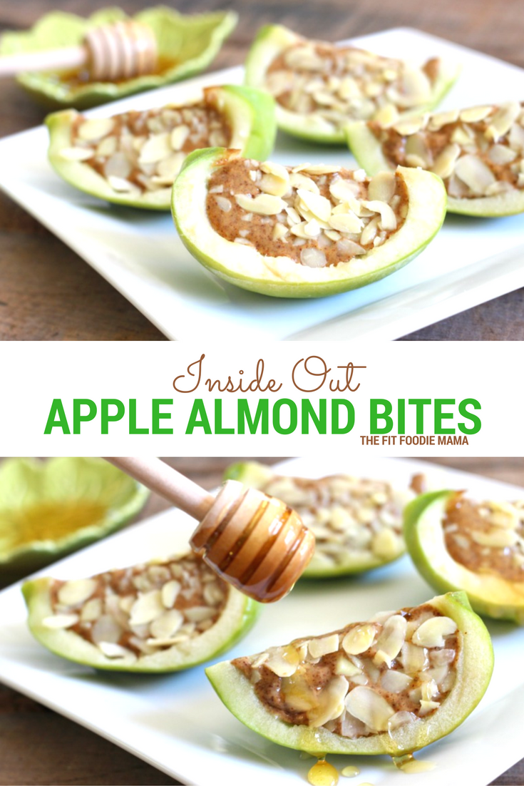 These Inside Out Apple Almond Bites are the perfect fall treat or healthy snack!