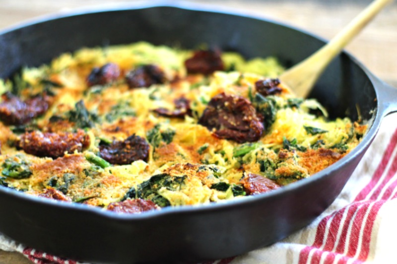 Try this Broccoli Rabe & Sun-Dried Tomato Spaghetti Squash Bake as a ...