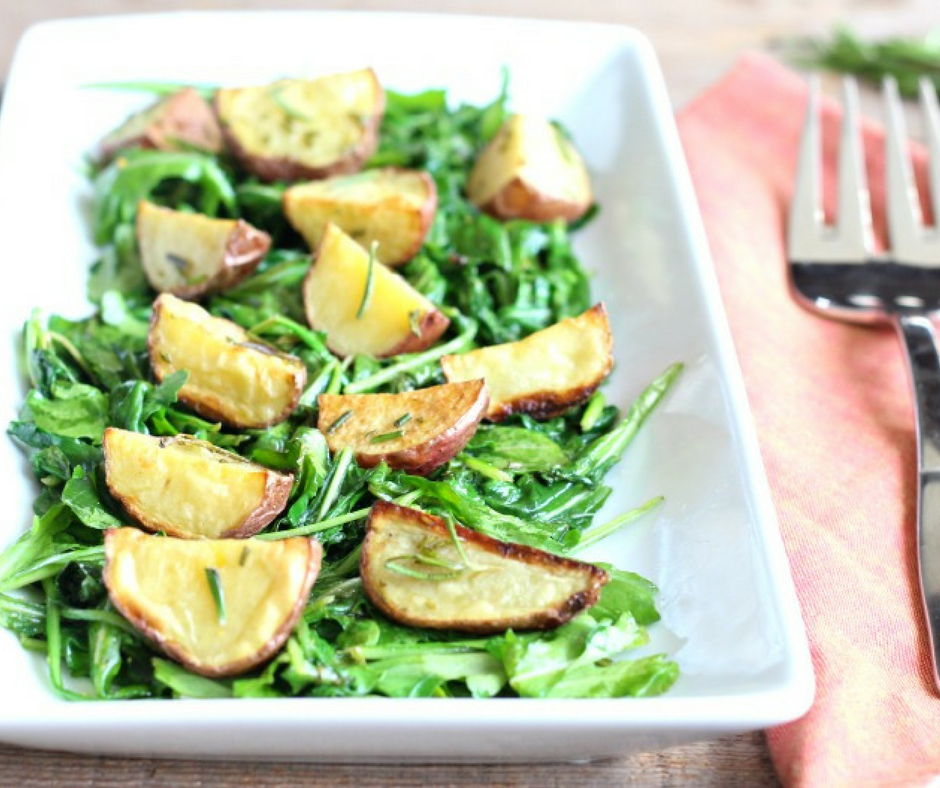 Roasted Potato & Warm Arugula Salad