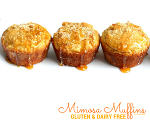 These Mimosa Muffins are the perfect treat for an allergy friendly brunch with your girlfriends! [paleo, gluten free and dairy free]