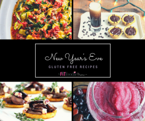 Everything from appetizers to dessert to drinks- here are easy gluten free recipes you can make for your New Year's Eve party!