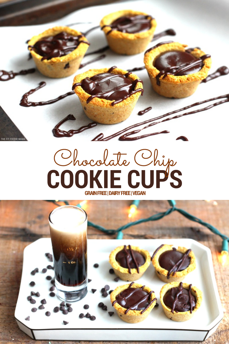 Who says milk and cookies are just for Santa? Add some cheer to the holiday season with these grain free and dairy free Chocolate Chip Cookie Cups!