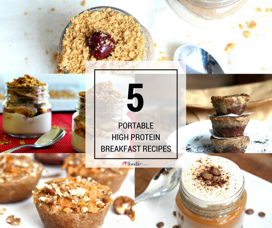 5 Portable High Protein Breakfasts {Gluten Free}