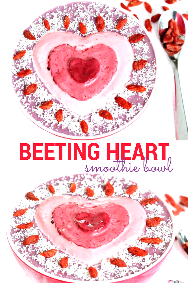 Beeting Heart Protein Smoothie Bowl {Dairy Free, Gluten Free, Beet and Berry Smoothie}