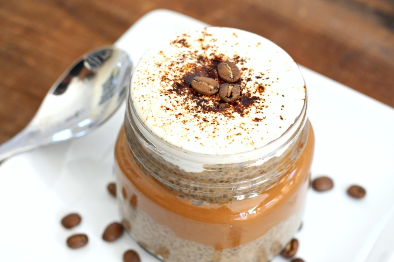 Dark Chocolate and Espresso Chia Protein Pudding {Vega, Gluten Free, Dairy Free,}. The perfect plant-based way to refuel after a hard workout or run!