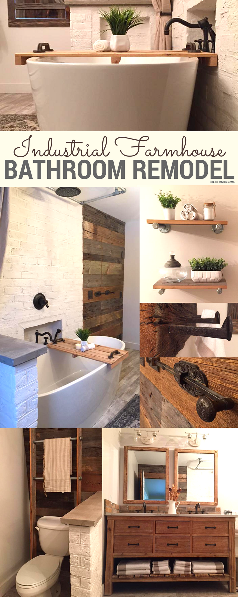 Industrial Farmhouse Bathroom Remodel