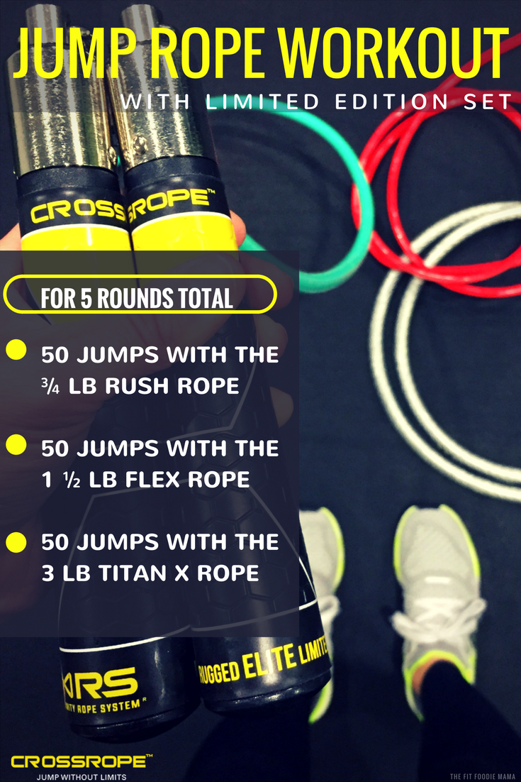 Boost Endurance and Build Power with this Crossrope Jump Rope Workout with the new Limited Edition Set!