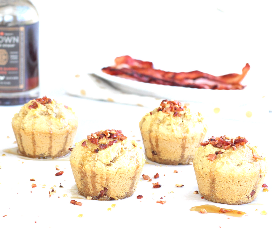 Paleo Friendly Maple-Bourbon & Bacon Breakfast Muffins