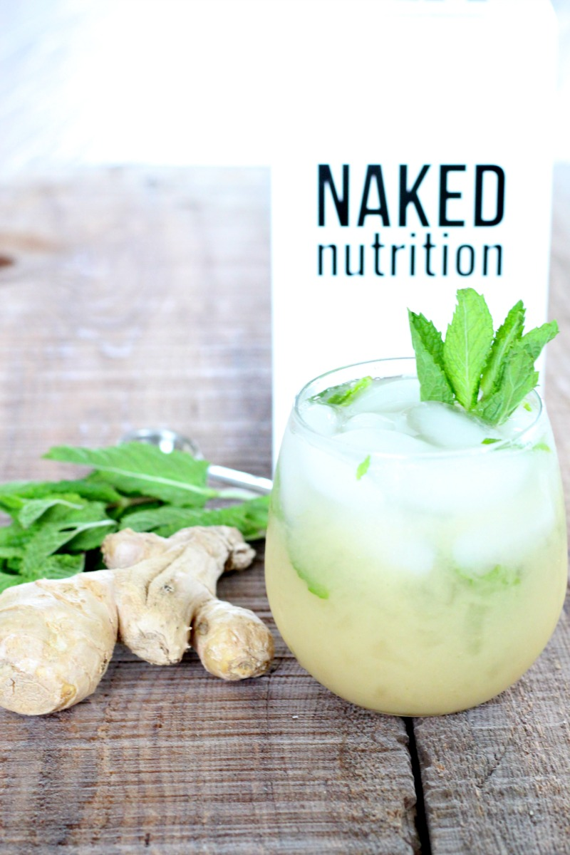 Digestive Elixir with Naked Nutrition Vegan Protein Powder