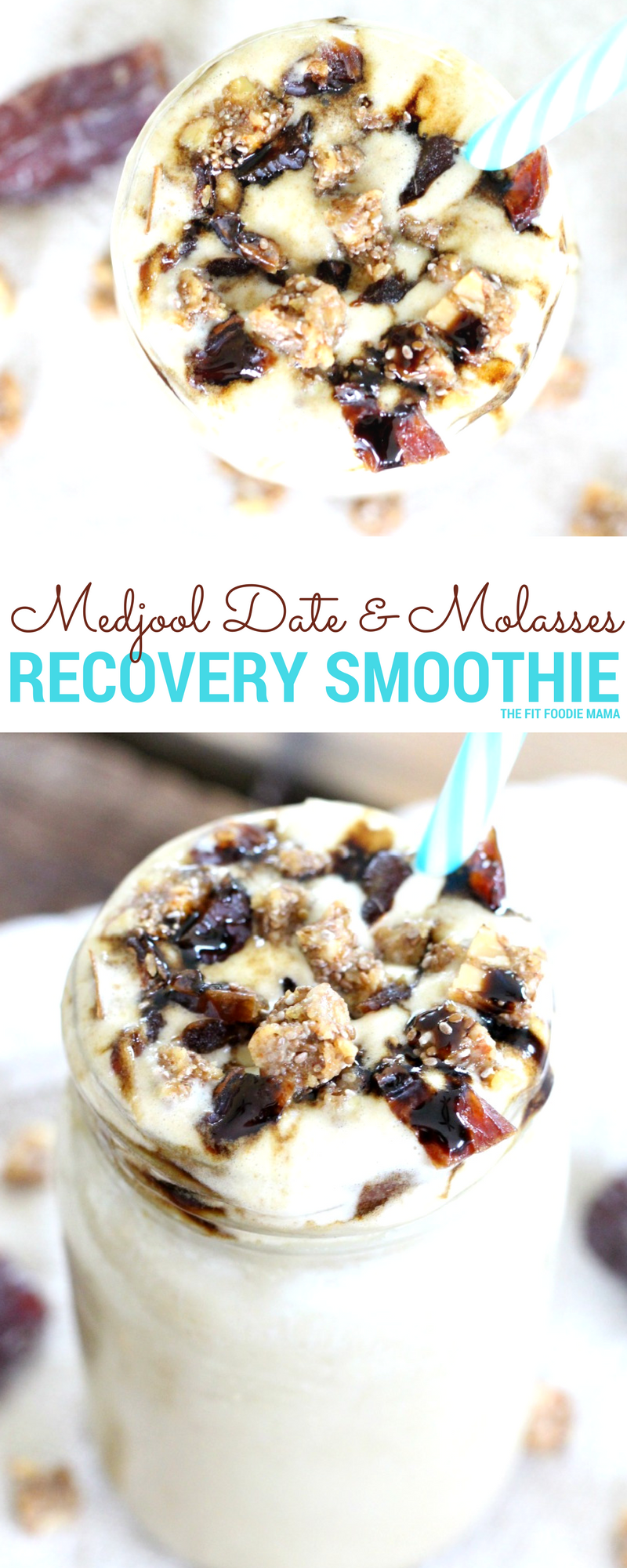 Give your body the vitamins and minerals it needs with this Medjool Date & Black Strap Molasses Recovery Smoothie! It's gluten free, dairy free, vegan and allergy friendly.