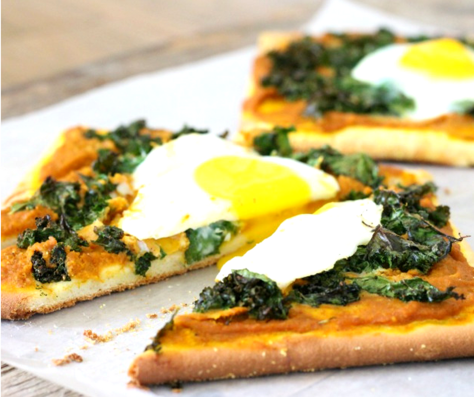 Quick and Easy Savory Pumpkin Breakfast Pizza